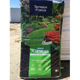 Sac de terreau plantation arbustes et rosiers 40L